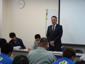 丸久運輸全体会議 2017 横山社長挨拶